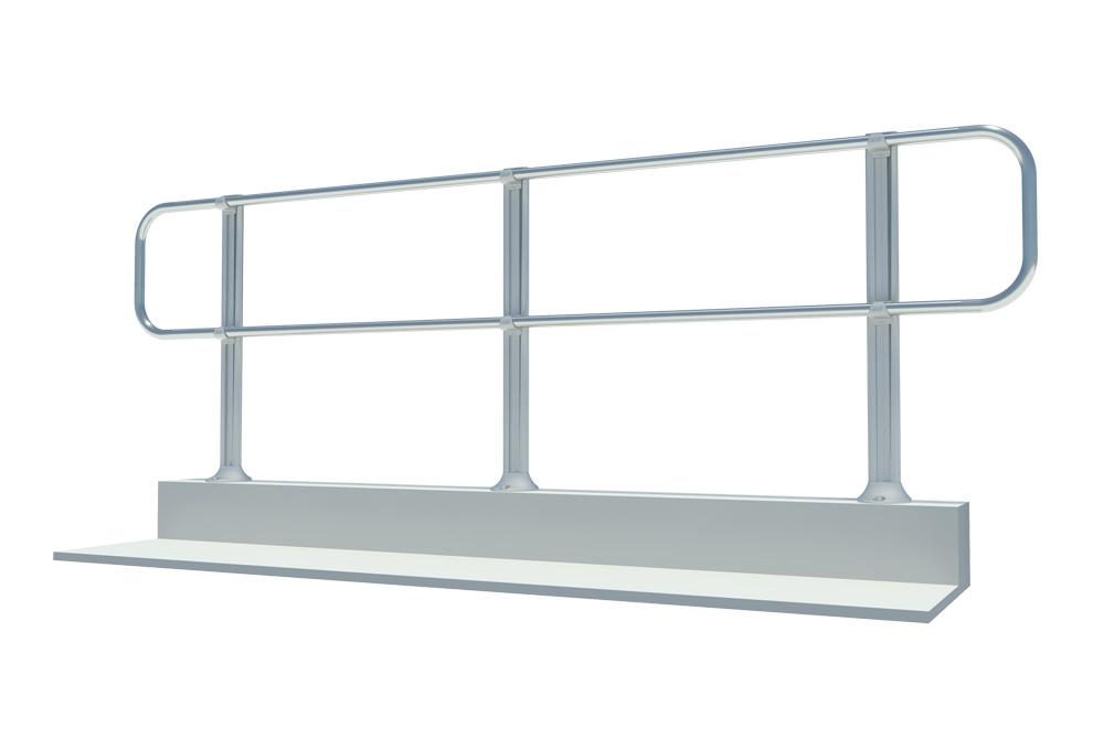 xsparapet wall fixed guardrail fall protection 5 star permanent
