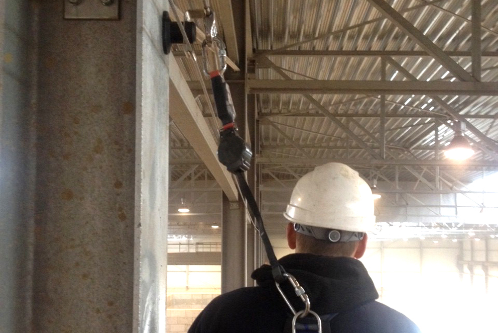 linkedpro wall fall protection system industry boer double lifeline