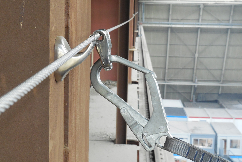 xslinked wall single lifeline intermediate fall protection arrest system