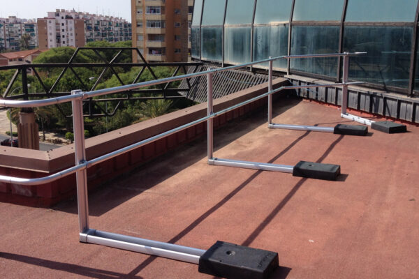 fall protection reference xsplatforms la rosaleda malaga espana spain xsfixed guardrails