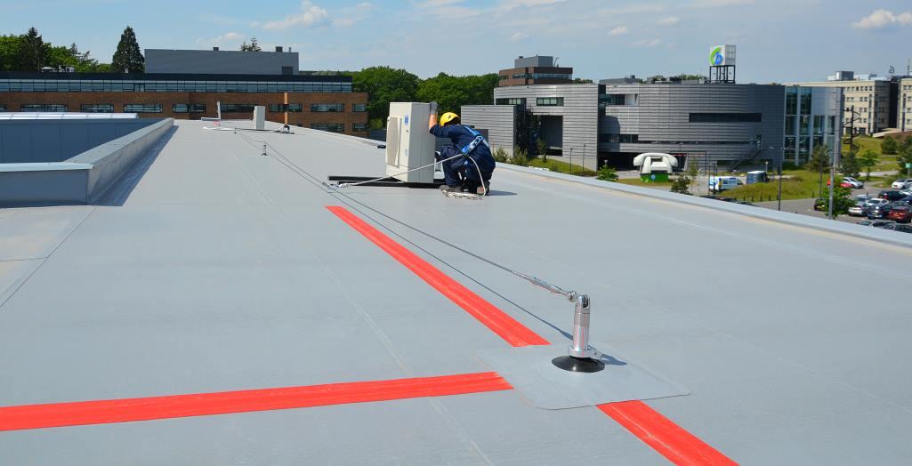 Horizontal lifeline system for safe maintenance