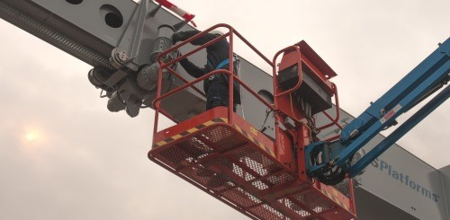 Fall protection PPE in a boom lift