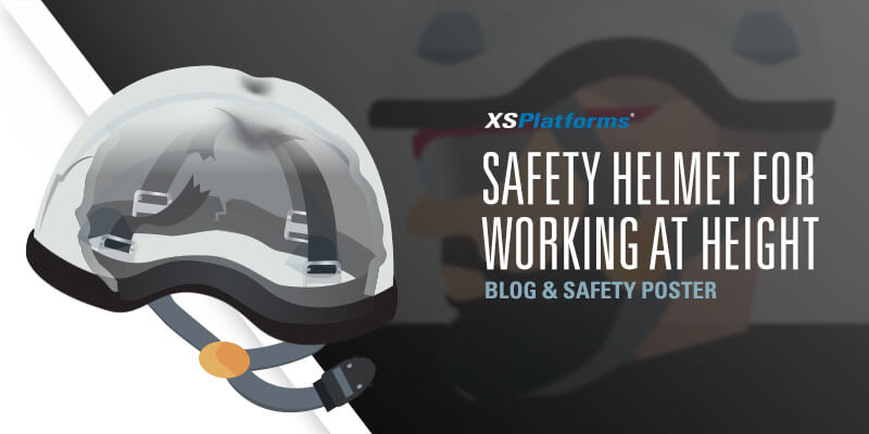 Safety helmet for working at height