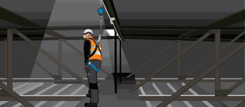 RETRACTABLE MINI WEB-BLOCK SAFETY FOR WORKING AT HEIGHT