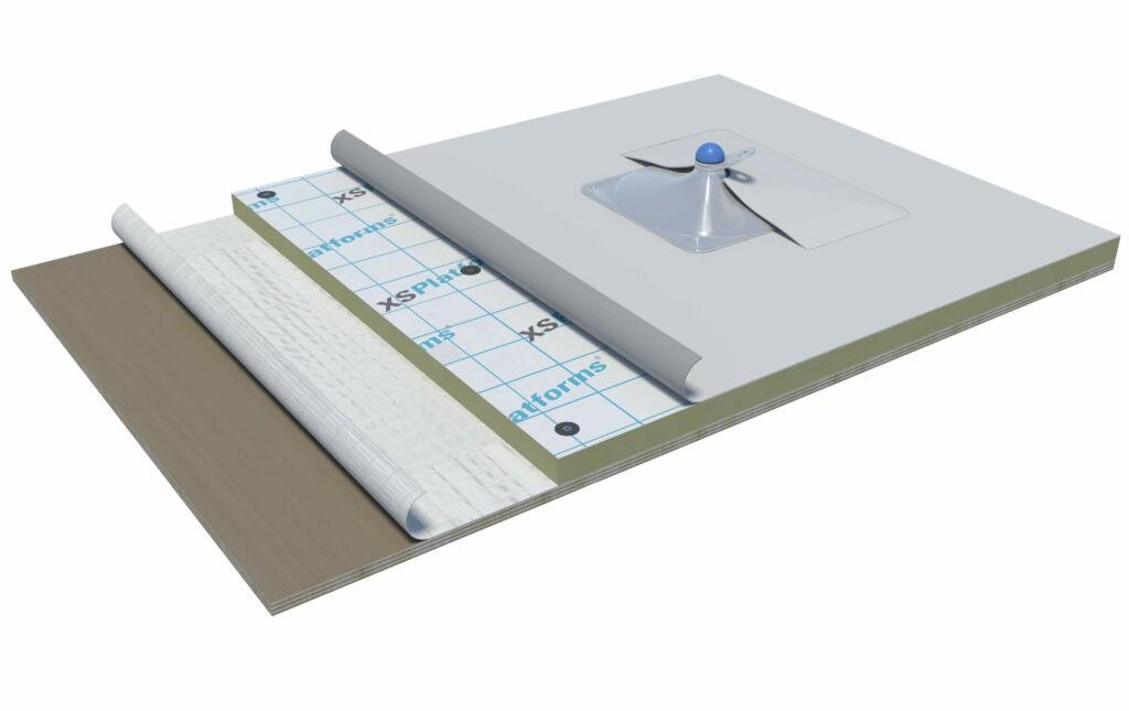XSBase plate on plywood