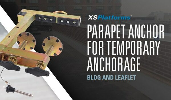 Parapet anchor for temporary anchorage at height