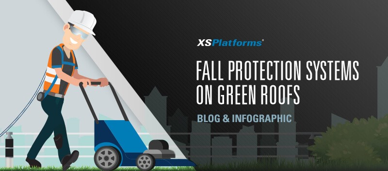 Fall protection for green roofs